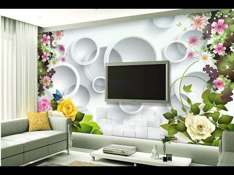 Wallpaper design for living room ! Home decoration ideas 2018 part 2 ...