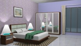 Sketchup Interior design ( Bedroom ) - Best Home Design Video