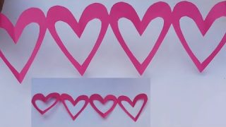 Diy Paper Heart Wall Hanging Easy Wall Decoration Ideas Paper