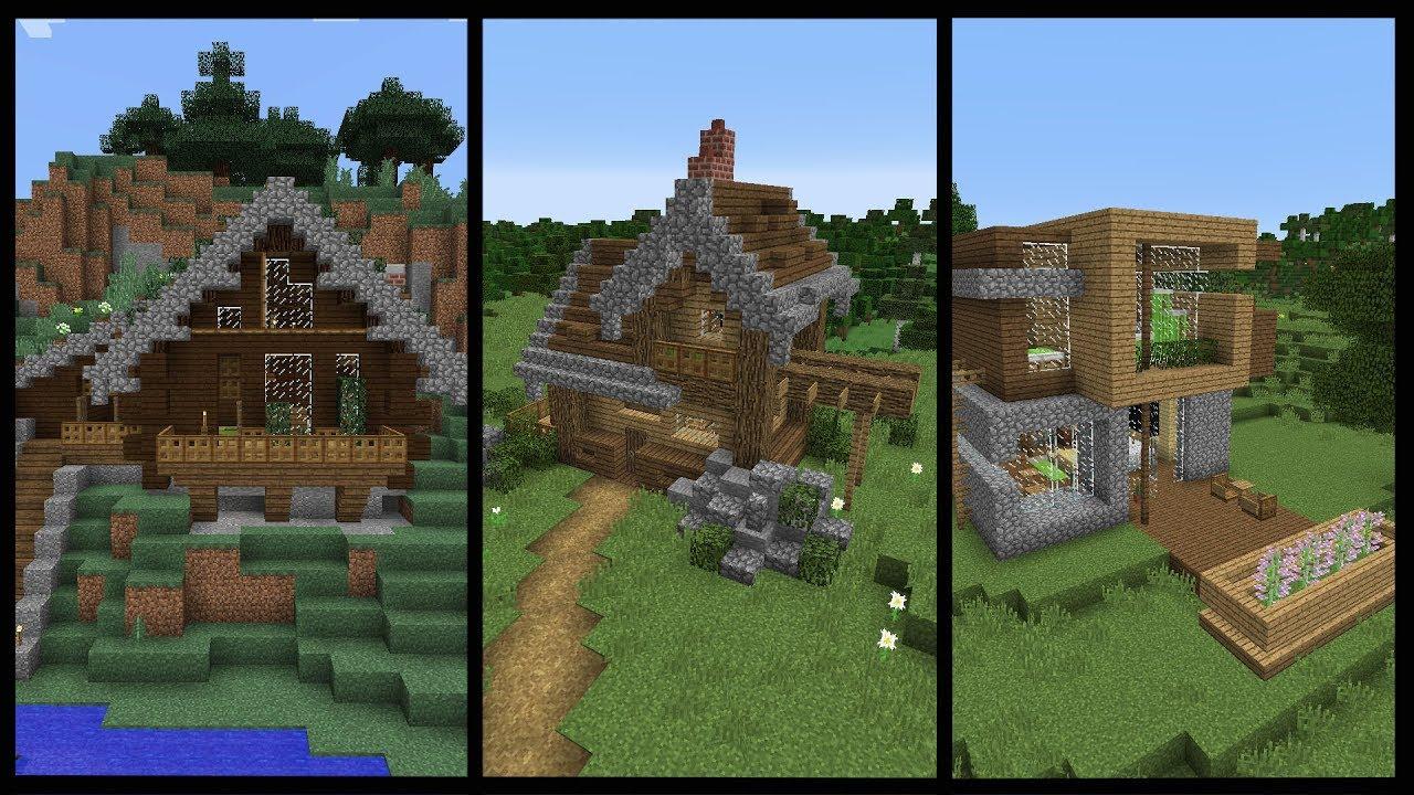 10 Minecraft Starter Houses - Best Home Design Video