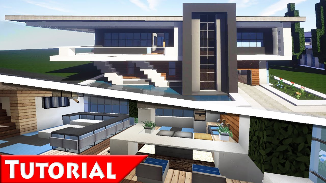 Minecraft: Modern House Interior Design Tutorial / How To