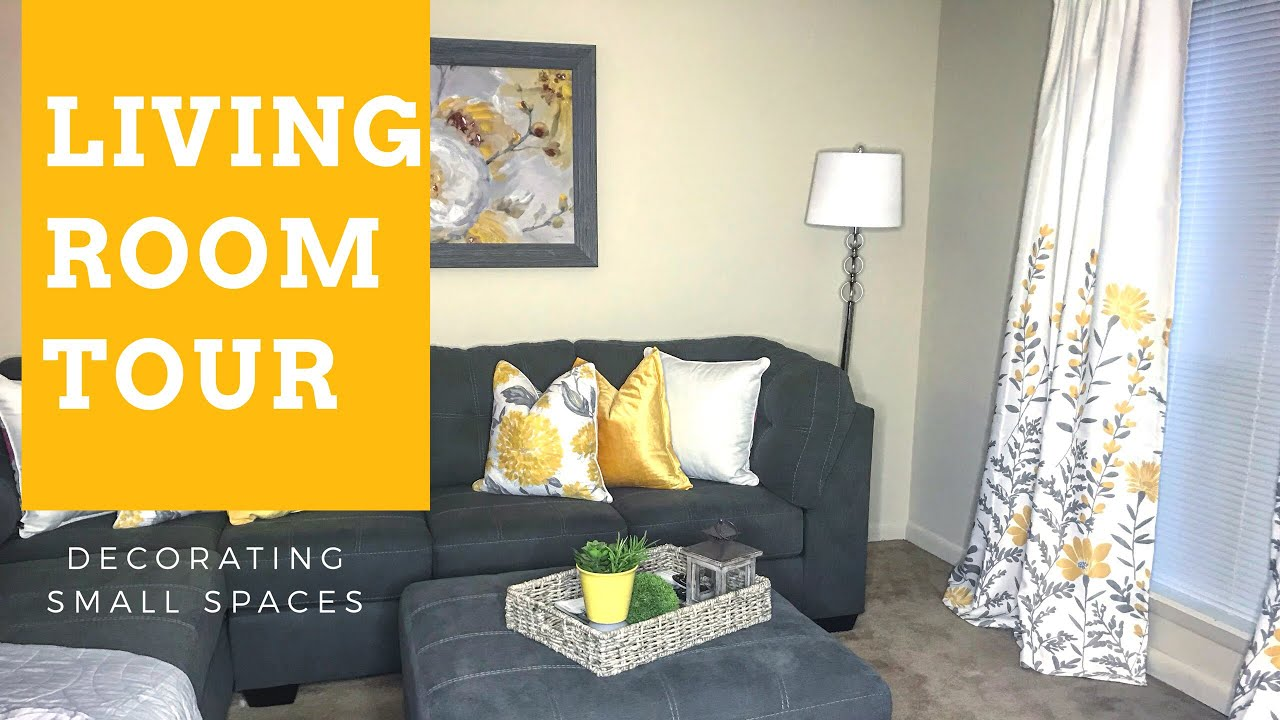 Decorating Small Spaces Living Room Tour Apartment   Best Home ...