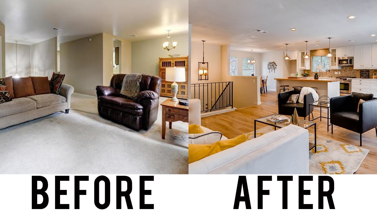 House Flip Before And After How We Turned A Split Level Home Into A Modern Open Concept Layout Best Home Design Video