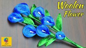 Diy Silk Thread Woolen Flowers Handmade Woolen Flower Crafts Home Decoration Idea Best Home Design Video