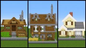 5 Simple One Chunk Minecraft House Designs Best Home Design Video