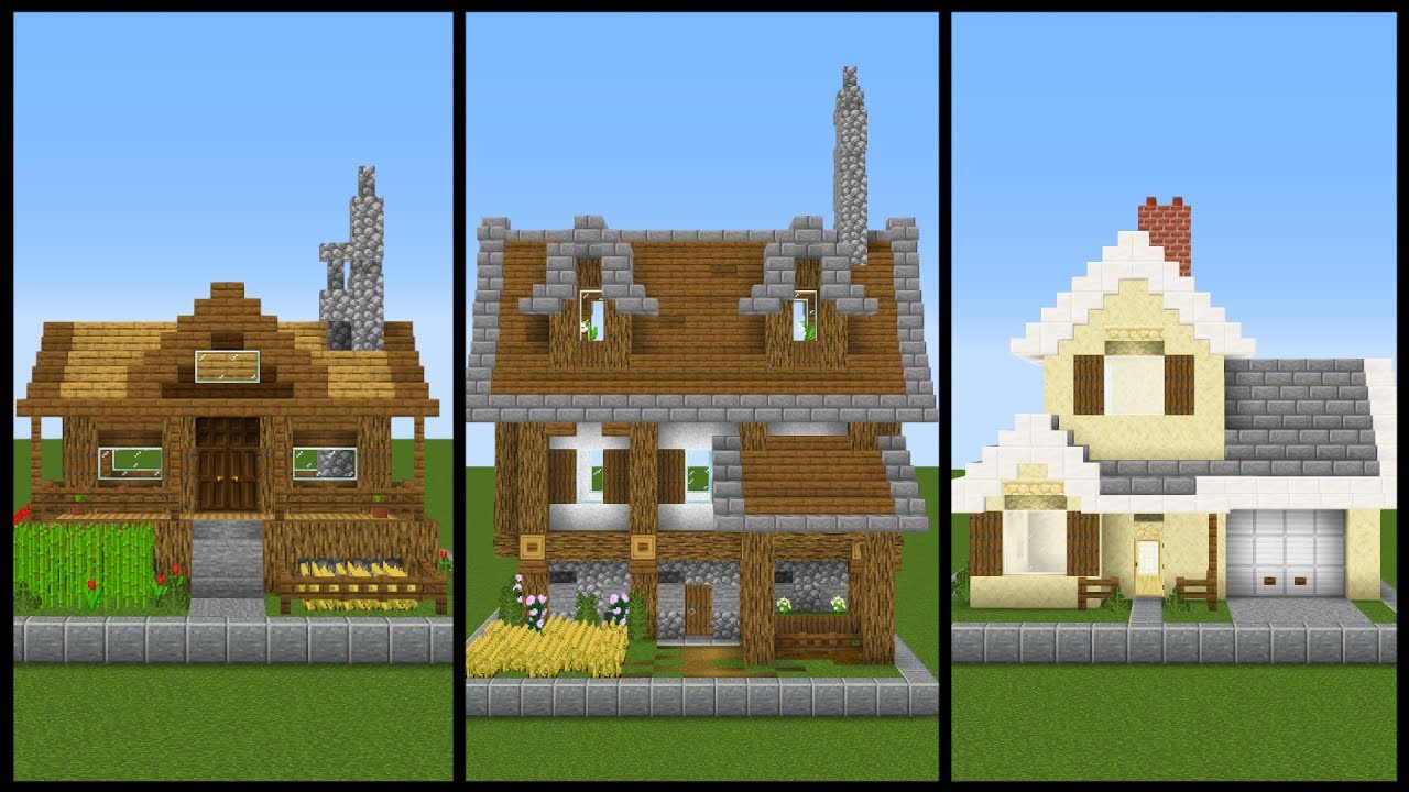 5 Simple ONE CHUNK Minecraft House Designs - Best Home ...