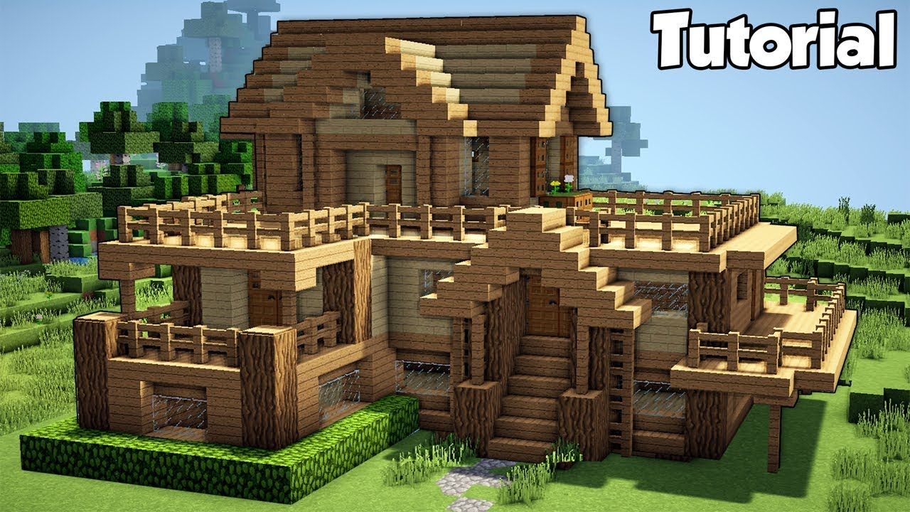 Minecraft  Starter House Tutorial - How To Build A House In Minecraft  Easy
