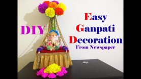 5 Easy Paper Decorations Ganesh Chaturthi Diwali Christmas New Year Decoration Ideas Best Home Design Video