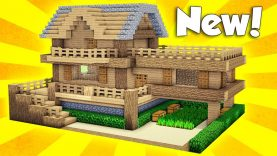Minecraft Wooden Survival House Tutorial How To Build A House