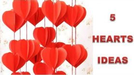 5 Wall Decoration Ideas Heart Design Valentine S Day Room Decor Ideas Paper Flower Wall Hanging Best Home Design Video